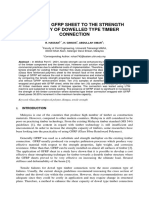 Effect of Gfrp Sheet to the Strength Capacity of Dowelled Type Timber Connection (for Mcrj)