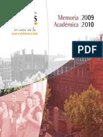 Memoria Academica 09-10