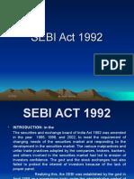 Sebi Act 1992