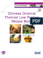 Chinese Oriental Themed Low-Protein Recipe Book