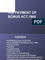 The Payment of Bonus Act1965