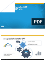 Analytics Solutions for SAP S4 HANA and HANA Live March 2016