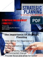 Strategic Planning n Company Performance