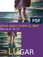 Jesus anda sobre el mar