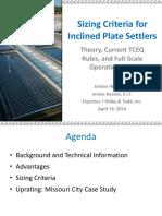 Plate Settler Presentation 140415