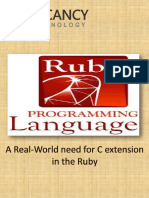 A Real-World Need for C Extension in the Ruby