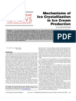Mechanisms of Crystallization in Ice Cream