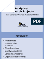Analytical Research - Purdue