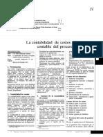 La Contabilidad de Costos y El Registro Contable de Proceso Productivo