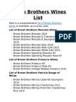 Brown Brothers Wines List