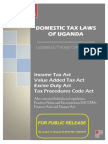 Domestic Tax Laws of Uganda 2016. Updated and Tracked Compendium.
