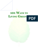 101 WAYS TO LIVING GREENER