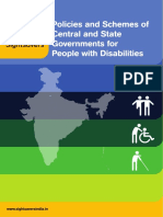 Policies and Schemes of Central and State Governments for People With Disabilities