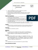 Planificacion de Aula Lenguaje 1BASICO Semana 4 2015