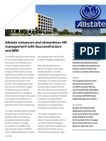 Case Study 1 SuccessFactors Allstate