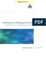 2012 Developing and Managing Contracts BPG