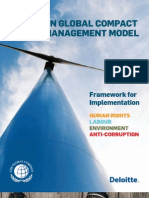 UN Global Compact Management Model