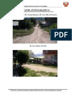 Panel foto grafico de la obra carreteras del alto