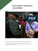 5 Mitos Sobre La Crisis en Venezuela