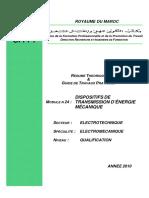 M 24 Dispositifs de Transmission Dénergie Mécanique