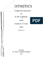 Hegel GWF Aesthetics Lectures on Fine Art Vol 2