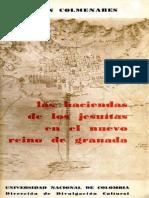 German Colmenares Las Haciendas Jesuitas en El NRG XVIII