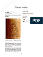 Gravure Lapidaire