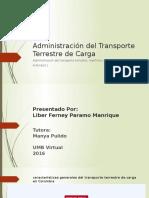 Actividad 1. Foro Administración Del Transporte Terrestre de Carga