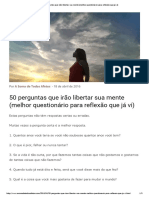 50 Perguntas Que Irão Libertar Sua Mente (Melhor Questionário Para Reflexão Que Já Vi)