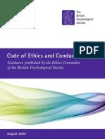 Código Ético de La British Psychological Society