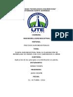 Aplicación de Los Principios a La Distribución en Planta.