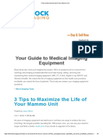 3 Tips to Maximize the Life of Your Mammo Unit (Blockimaging