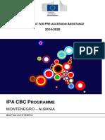 2014 - 2020 Ipa Cbc Montenegro-Albania