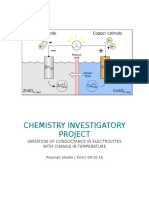 Chemistry Investigatory electrochemical cell