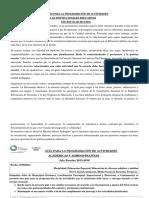 Guía Para La Programación de Actividades 2015-2016,Todos Los Niveles y Modalidades.