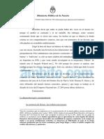 Dictamen Federico Delgado irregularidades pago a fondos buitres
