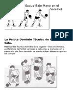 La Técnica de Saque Bajo Mano en El Voleibol