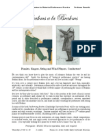 509 1-00 Brahms a La Brahms, Handbill, W17