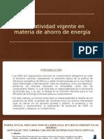 Normatividad Vigente en Materia de Ahorro de Energía