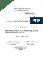 Reglamento de Estándares de Calidad de Agua de Puerto Rico (2014)