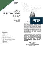 Eq Electrico Del Calor Informe