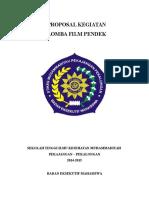 Proposal Kegiatan Lomba Film Jadi