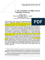 1995 - Jeannie Oakes - MatchmakingTheDynamicsofHighSchoolTrackingDecision[Retrieved-2016!10!10]