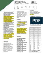 Silsteel Data Sheet
