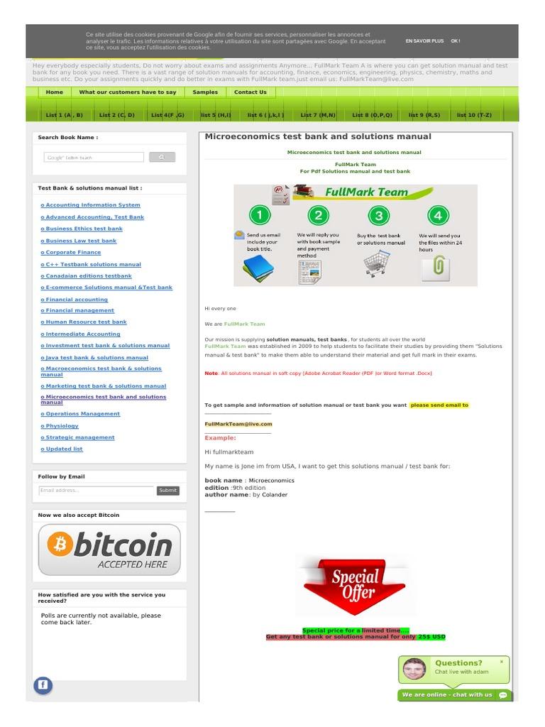 Microeconomics test bank economies business fandeluxe Gallery