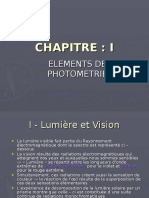 Chapitre I Photométrie