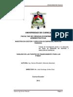 """""""Análisis de Las Fuentes de Financiamiento Para Las"""