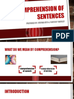 Comprehension of Sentences