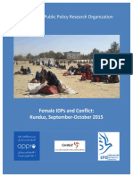 2016 11 22 - Female IDPs and Kunduz Conflict