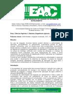 UNIFORMIDADE DE IRRIGAÇÃO DE UNIDADE DE SISTEMA DE GOTEJAMENTO